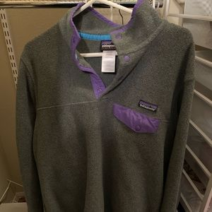 Women's Patagonia synchilla gray and purple